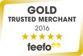 Feefo Gold Trusted Merchant