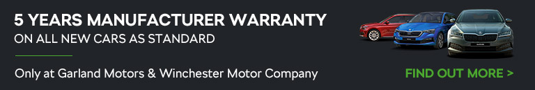 5 Years Manufacturer Warranty on all new cars as standard