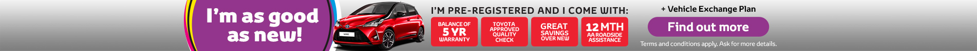 Toyota Pre-registered